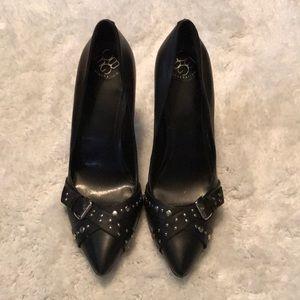 BCBGeneration Black Leather Stiletto Heels